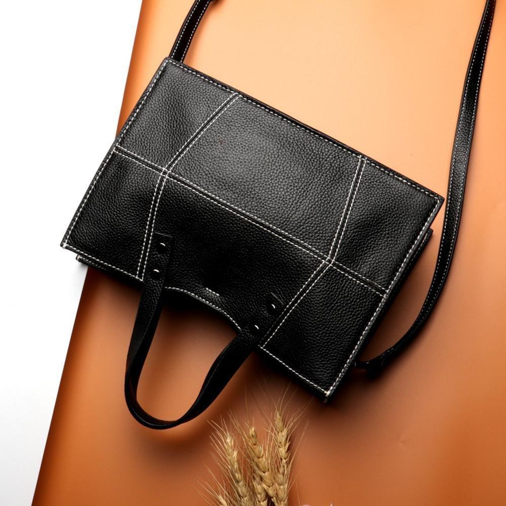 Kaxima Cuir femme Baotou couche vachette unique sac à bandoulière fermeture éclair petit côté sac messenger sac à main VQwpIjKh5
