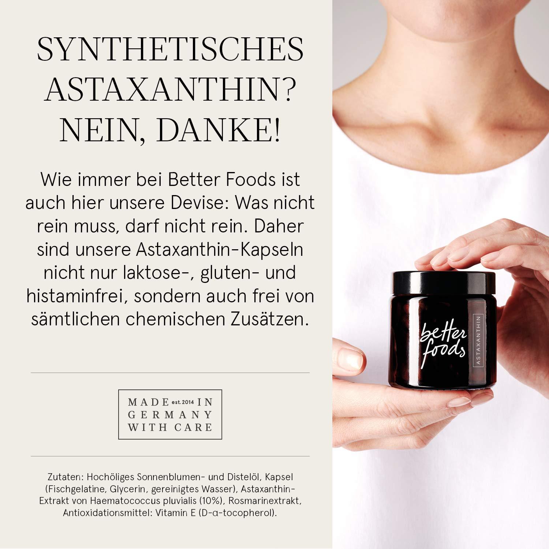 Better Foods Complejo de Astaxantina y Vitamina E con Extracto Natural de Romero | Comprimido Antioxidante, Antiinflamatorio y Vegano | 80 Cápsulas à ...