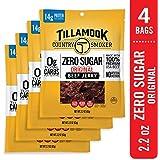 Tillamook Zero Sugar Original Keto Friendly Beef Jerky 4 Pack, 8.8 oz