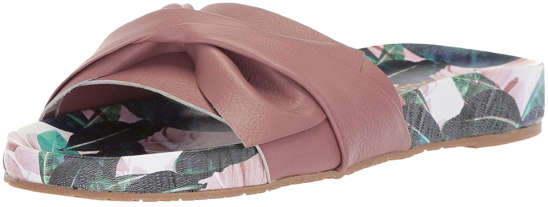KAANAS Women's Galera Printed Pool Bow Fashion Slide Sandal B076FFRNBZ 5 B(M) US|Berry