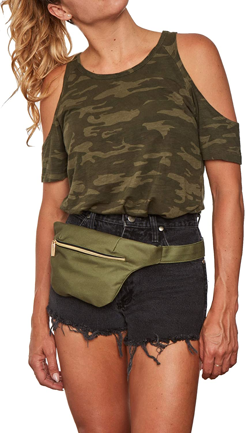 Eco-Canvas Fashion Belt Bags//Hip Pack with RFID Theft Protection