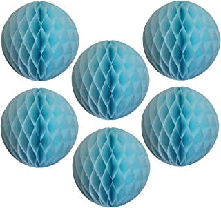 product image for 6-pack 5 Inch Light Blue Honeycomb Tissue Paper Balls