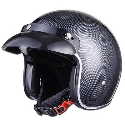 Casque de moto de vélo de rue pour les hommes adultes femmes Ultralight moulé intégralement léger respirant, 57-62CM 1150g
