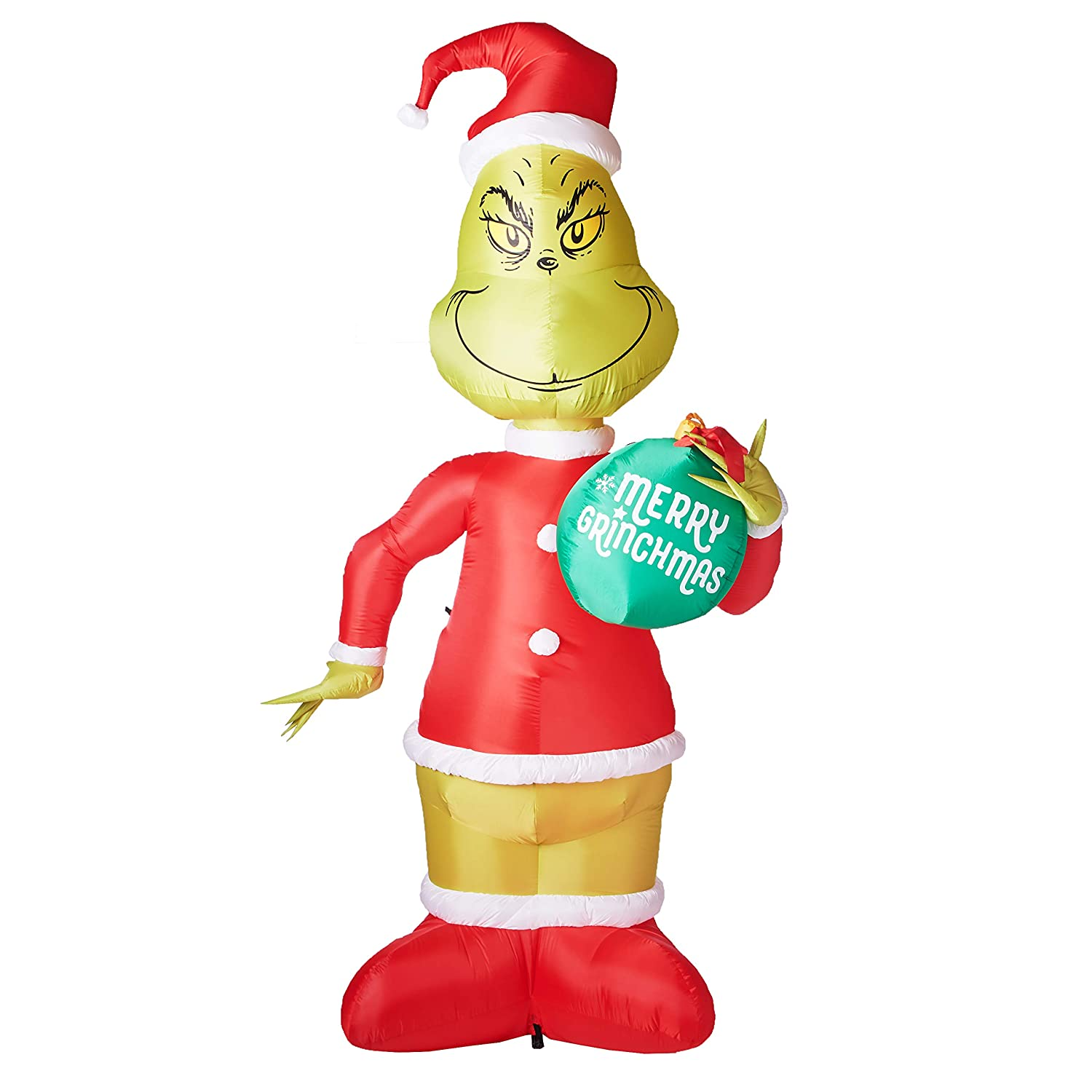 Amazon.com: Gemmy 11 Ft Grinch with Ornament Airblown Lighted ...