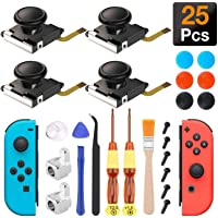 Joycon Joystick Replacement, (4 Pack) Switch Analog Stick Parts for Nintendo Switch Joy Con, Controller Repair Kit…