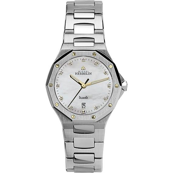 MICHEL HERBELIN ODYSSEE RELOJ DE MUJER CUARZO SUIZO 28.4MM 14231/BAOR89: Amazon.es: Relojes