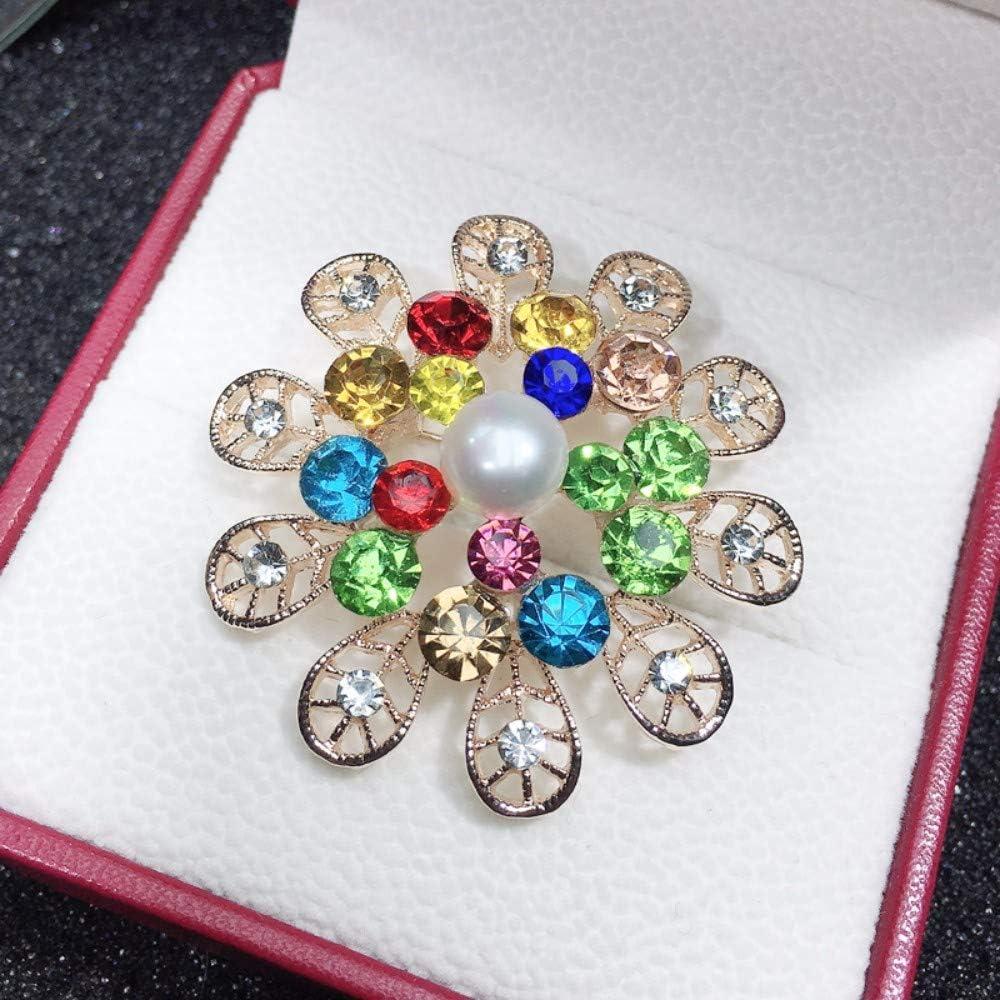 THTHT Collares De Perlas De Agua Dulce Naturales Perlas Joyas Perla Breastpin Cromática para La Mujer Regalo Accesorios
