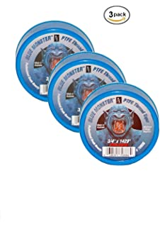 Milrose 70886 Blue Monster 3/4 Inch x 1429 Inch MDPE Blue Teflon Tape (