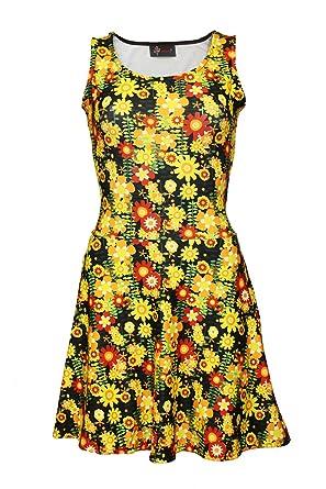Insanity Clothing Damen Skater Kleid Mehrfarbig Mehrfarbig S/M, M/L, L