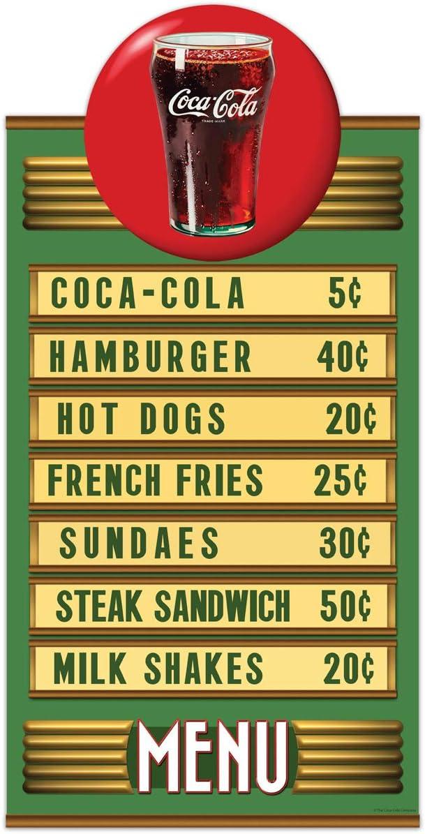 Coca-Cola Red Disc Diner Menu Wall Decal Sticker Decor 14 x 27