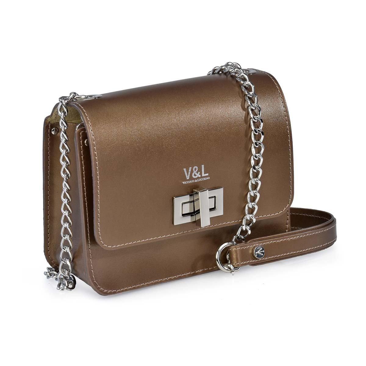 Victorio   Lucchino Bolso de Mujer con Bandolera de Cadena 10320 Metalico  (Color  Antracita)  Amazon.es  Zapatos y complementos 7debc5e3374