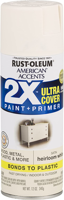 Rust-Oleum 327920 American Accents Spray Paint, 12 oz, Satin Heirloom White