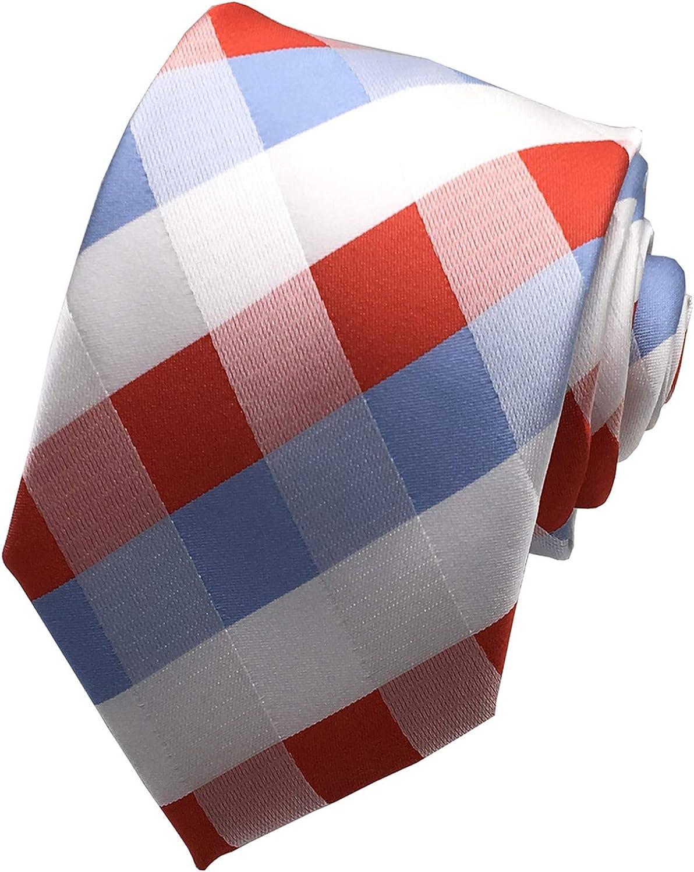 MOHSLEE Mens Lot 5 PCS Workdays Tie Polka Dots Neck Ties Silk Neckties Set of 5