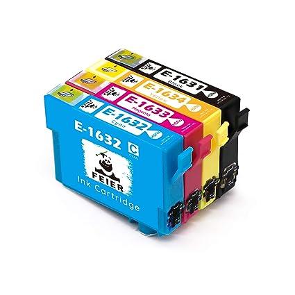 feier - Recambio de cartuchos de tinta Epson 16XL 16 XL compatibles con impresoras Epson Workforce WF-2630WF WF-2750DWF WF-2510WF WF-2650DWF WF-2010W ...