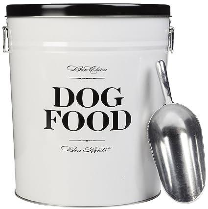 Delicieux Harry Barker Dog Food Storage Canister   Bon Chien   Black   22 Lb