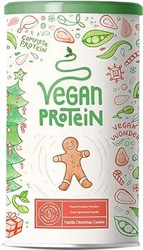 Proteína vegana | GALLETA NAVIDEÑAS DE VAINILLA | Proteína vegetal de soja, arroz, guisantes, semillas de lino, amaranto, semillas de girasol y ...