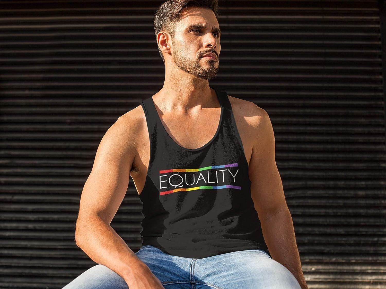 Unisexo Hombre Se/ñoras LGBT 2019 Equality Camiseta Gay Pride Vest