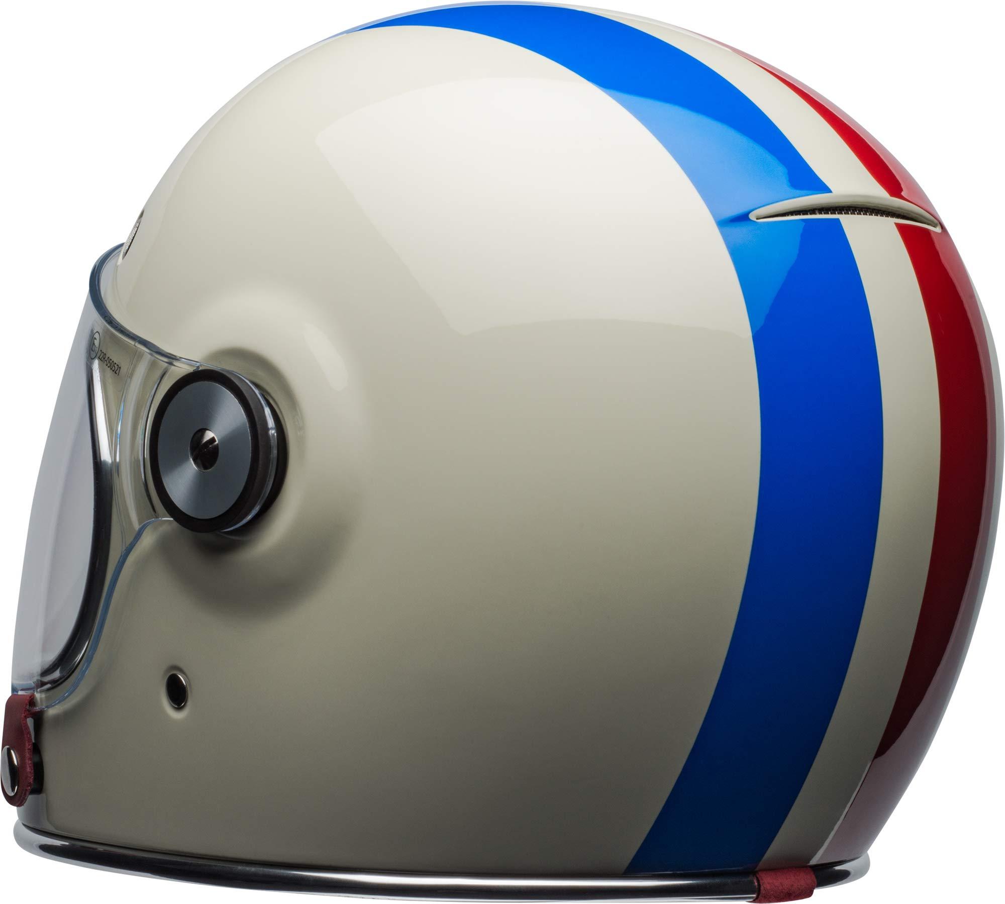 Bell Bullitt Helmet - Command (X-SMALL) (GLOSS VINTAGE WHITE/RED/BLUE) by Bell (Image #5)
