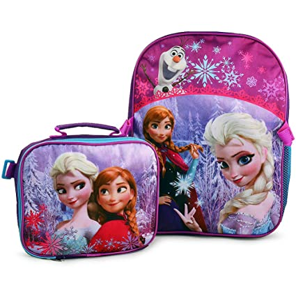 688fe252892 Disney Frozen Anna and Elsa Deluxe Backpack and Lunch Bag Set  Purple    Amazon.ca  Luggage   Bags