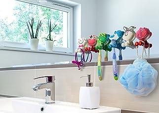 BOLICA Toothbrush Holder,Cute Cartoon Animal Toothbrush Holder With Suction  Cup,Kids Toothbrush Holder