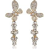 Rolicia Phoenix Tail papillon en cristal tchèque 6.6 * 2.5 cm Les boucles d'oreilles Gouttes Studs Swarovski design Gift Box