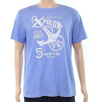 3331657e8 Ralph Lauren Mens Logo Graphic T-Shirt Blue XL at Amazon Men's ...
