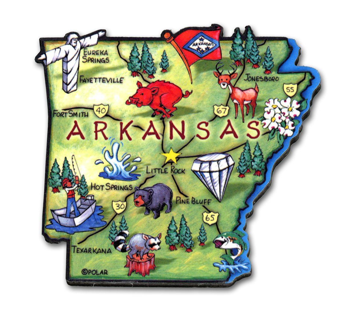 ARTWOOD MAGNET - ARKANSAS STATE MAP