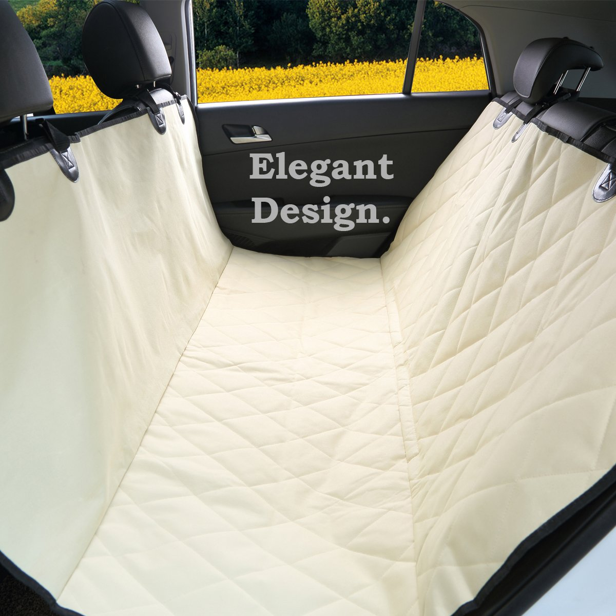 Amazon.com : Luxury Pet Car Seat Cover By Pet Magasin   Waterproof U0026  Scratch Proof U0026 Nonslip Backing U0026 Hammock Style U0026 Heavy Duty Back Seat  Protector For ...