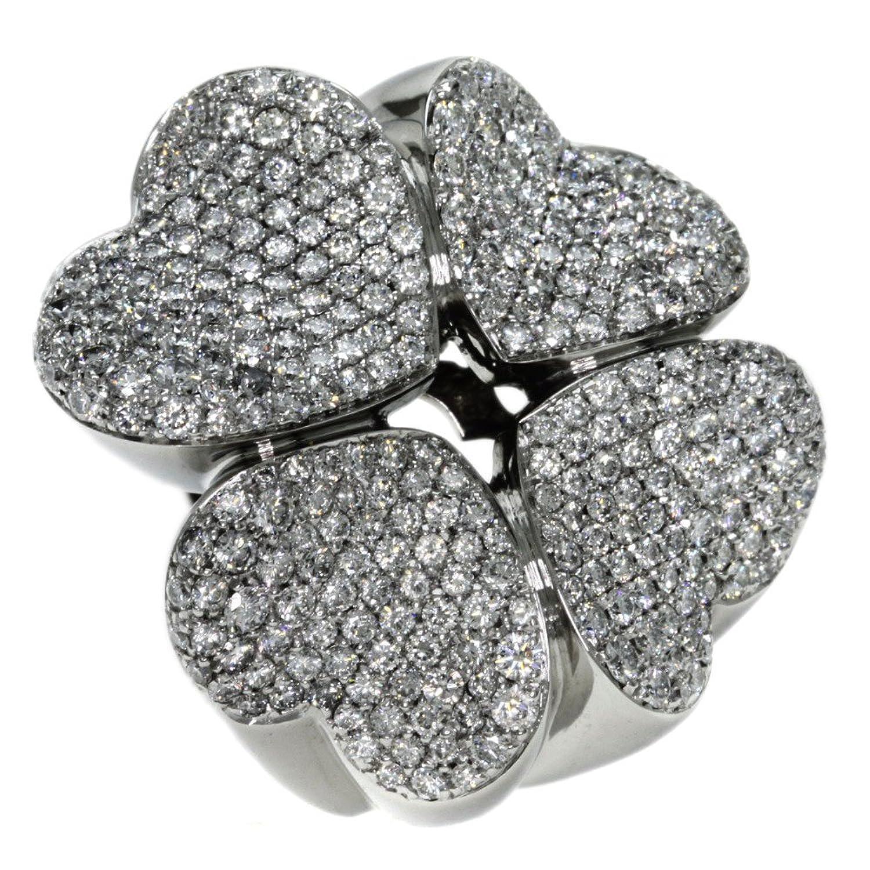42g ダイヤモンド パスクワブルーニ リング指輪 K18ホワイトゴールド レディース (中古) B077X512VX