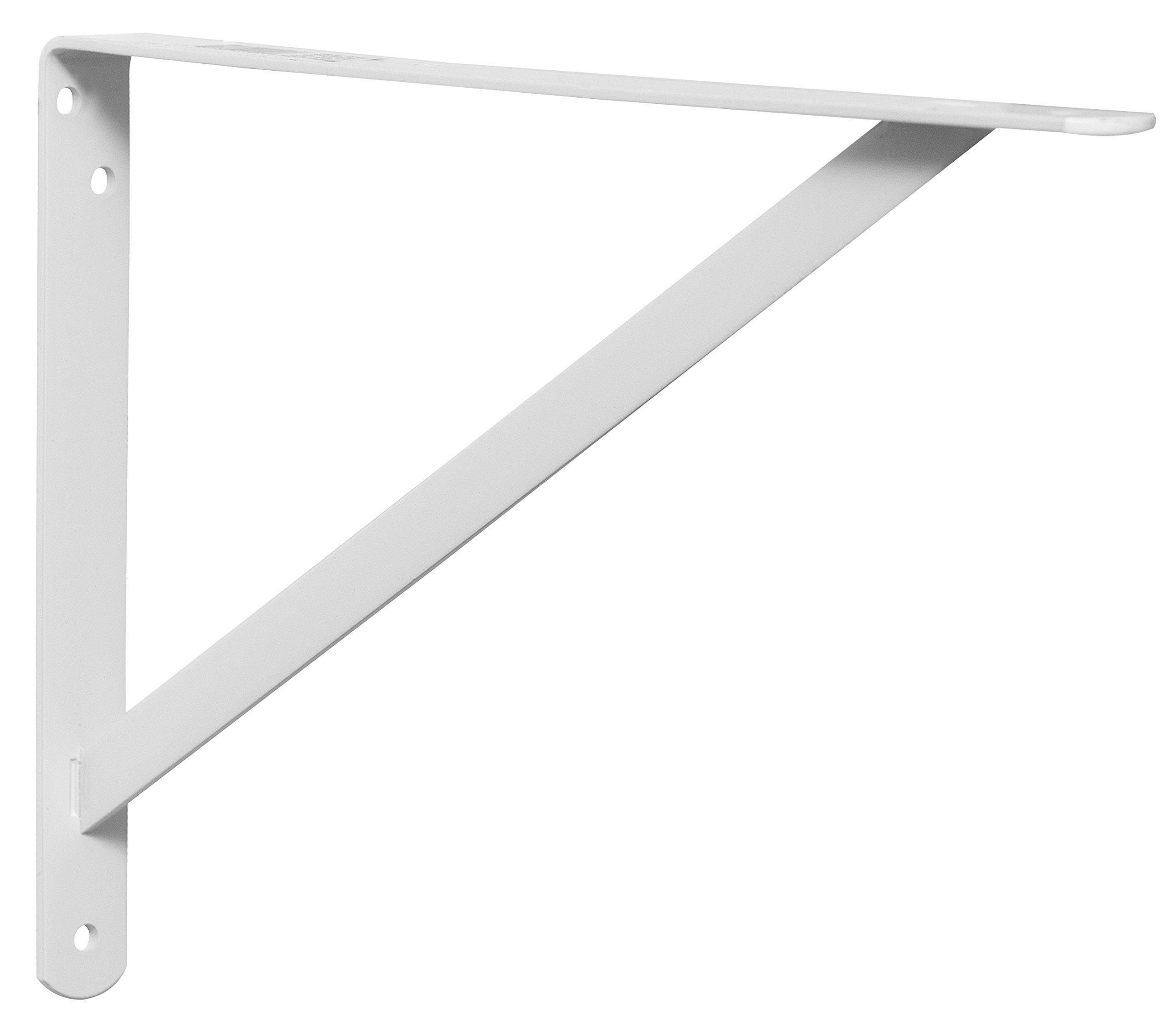 Decko 49146 Heavy Duty Shelf Bracket, 14.5-Inch by 10-Inch, White, 10-Pack