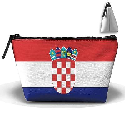 Chion Croatian Rainbow Flag Hand Bag Pouch Portable Storage Bag Clutch Handbag