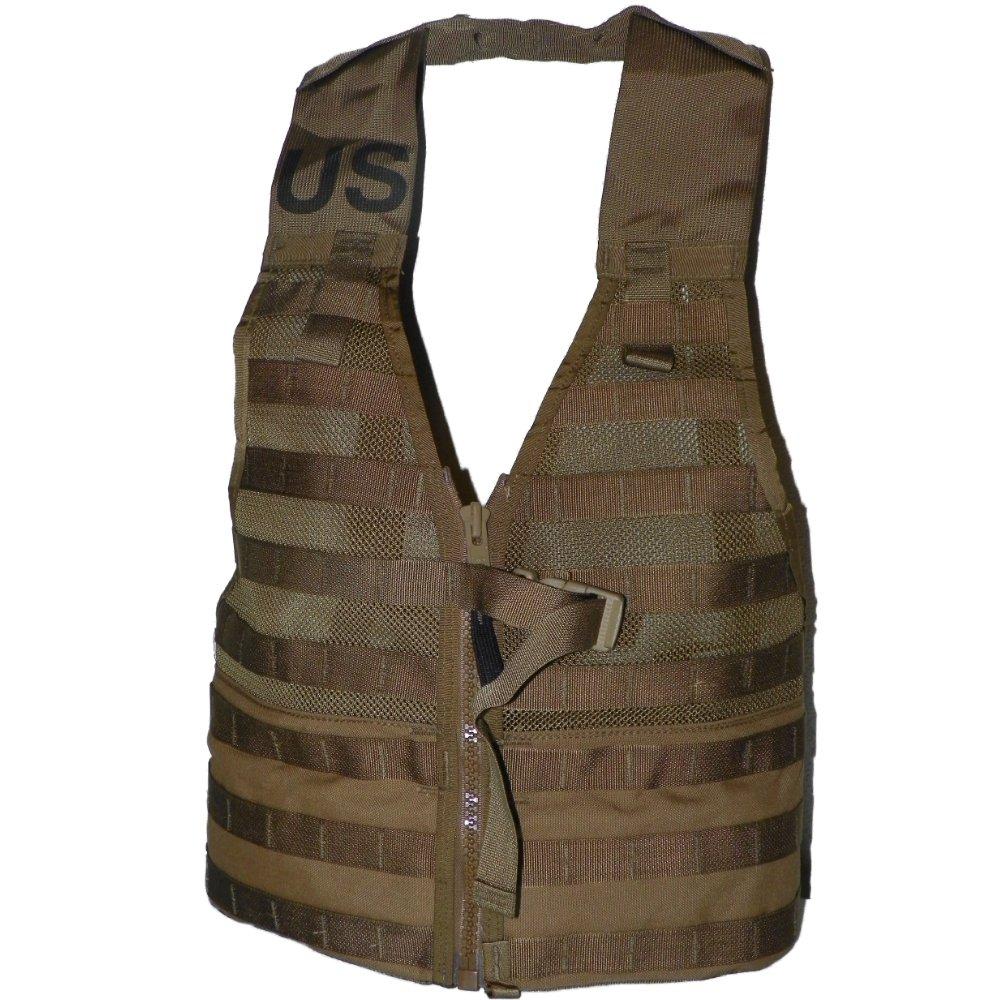 米国政府契約者MOLLE II USMCタクティカルベスト、Fightingロードキャリアのファスナー、コヨーテブラウン   B00HYZ162A