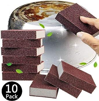 10 Pack Esoca Carborundum Sponges Elite Emery Sponge Cleaning Pads