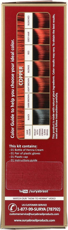 Surya Brasil - Henna Cream Hair Coloring con extractos de ...