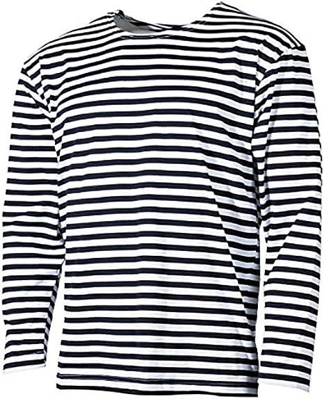 100/% Cotton Striped Long Sleeved Genuine Russian Navy Winter Telynashka Jumper
