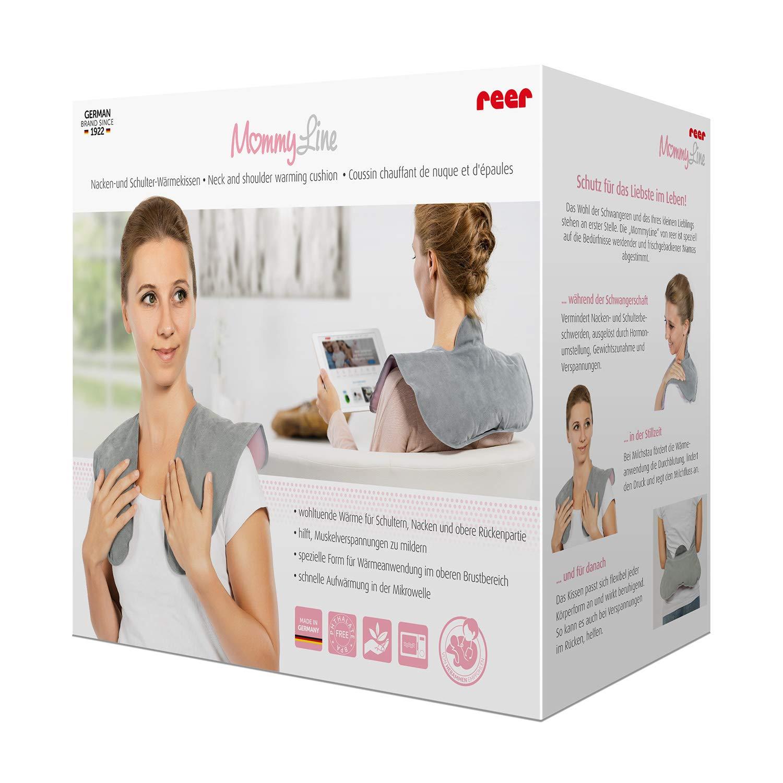 extra grandes espalda REER Coj/ín de calor para cuello y hombros mommyline para el microondas
