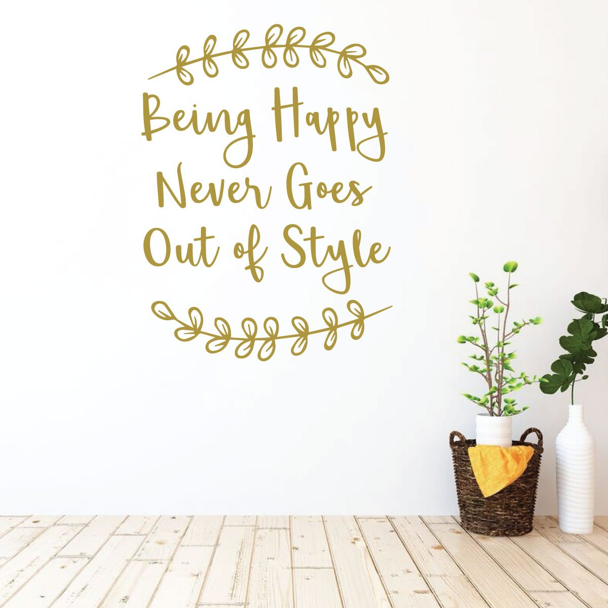 Amazon.com Family Wall Decal   Being Happy Never Goes Out of ...