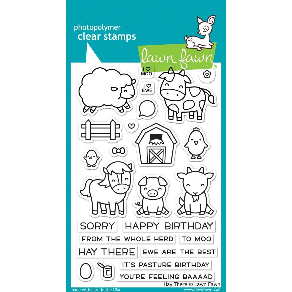Lawn Fawn Clear Stamps LF1595 Hay There