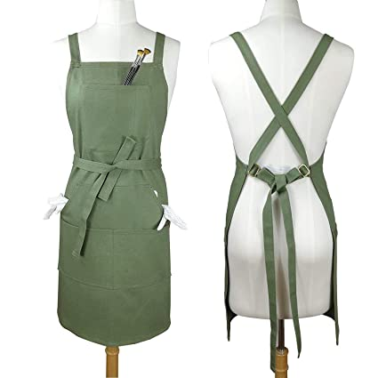d3dcfe5dd95e1 Amazon.com  Soft Thick Professional Artist Apron