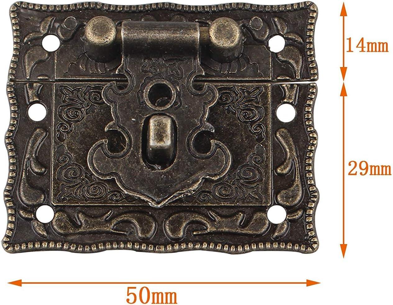 Loquet de bo/îte /à bijoux avec loquet et 2 charni/ères avec vis.