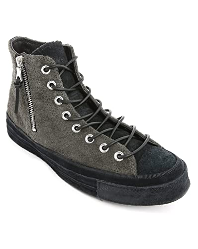 a339c8440d055c Converse Mens Chuck Taylor 1970 Suede Zip Faded Black Grey Leather Size 8.5