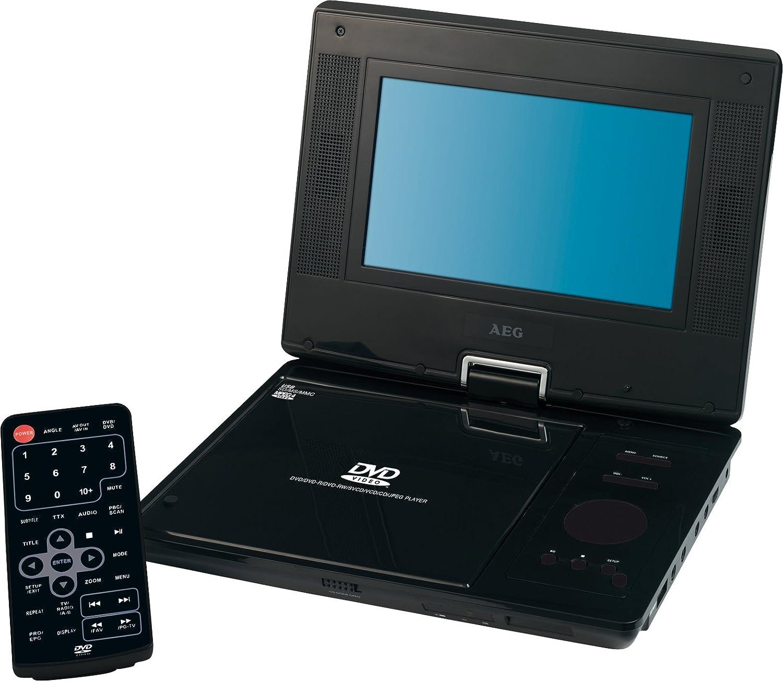 AEG CTV 4952 - Reproductor de DVD portátil (LCD, 17,7 cm (7 pulgadas), sintonizador DVB-T, USB 2.0), color negro: Amazon.es: Electrónica