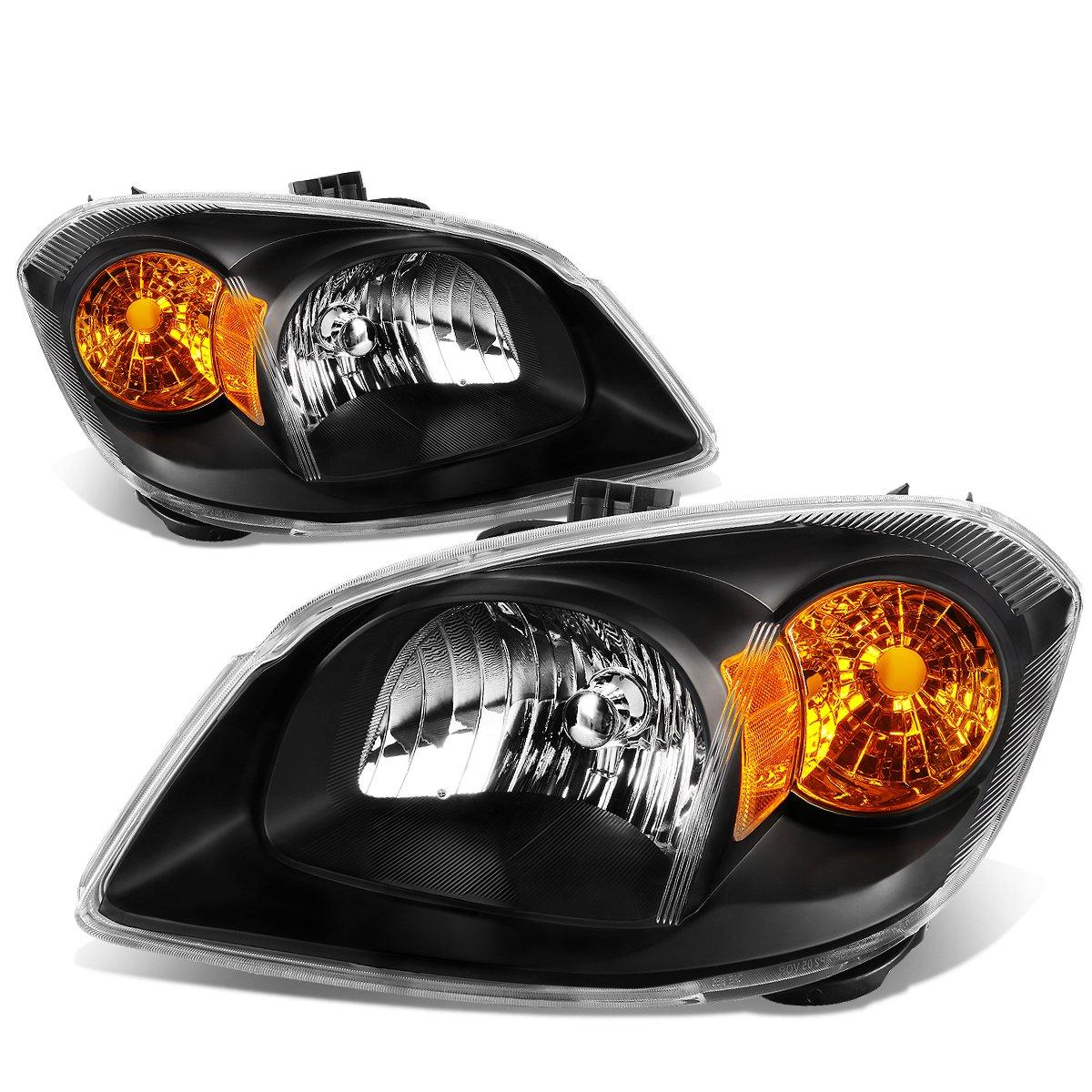 For Chevy Cobalt//Pontiac G5//Pursuit Pair of Black Housing Amber Corner OE Style Headlight