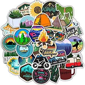 Laptop Stickers Pack Outdoor Style DIY Stickers VSCO 50PCS Water Bottles Stickers Cute,Waterproof,Aesthetic,Trendy Stickers for Teens,Girls Perfect for Waterbottle,Laptop,Phone,Travel Case, Wall DIY