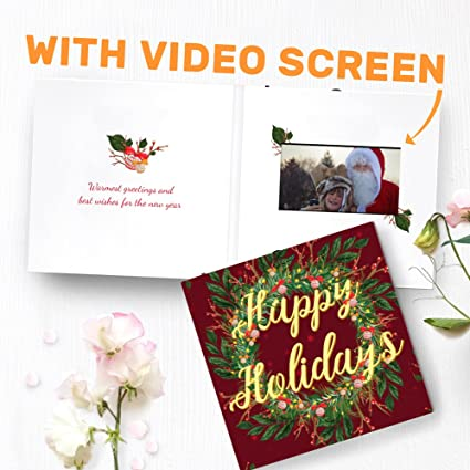 Amazon christmas greeting card with video screen happy christmas greeting card with video screen happy holidays card custom christmas card happy m4hsunfo