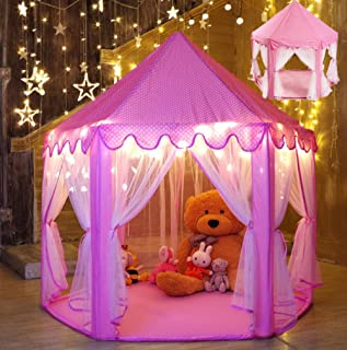 Princess Castle Play TentPink Hexagon Child Play TentGirls Pink Play Tents   sc 1 st  Amazon.com & Amazon.com: Discovery Kids Princess Play Castle: Toys u0026 Games