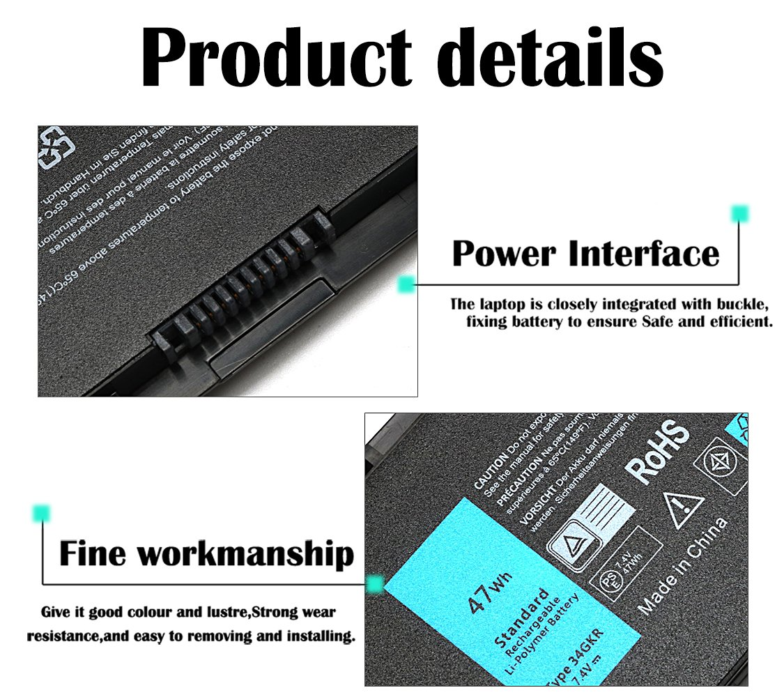 New Replacement Laptop Battery for Dell Latitude E7440 E7450 E7420 Battery fit 451-BBFV 3RNFD G0G2M PFXCR T19VW 34GKR 0909H5 0G95J5 E225846 Notebook Battery - 12 Mothy Warranty by TSKYBEAR (Image #3)