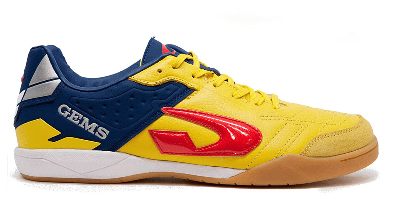 GEMS Herren Futsalschuhe Weiß Gelb 41