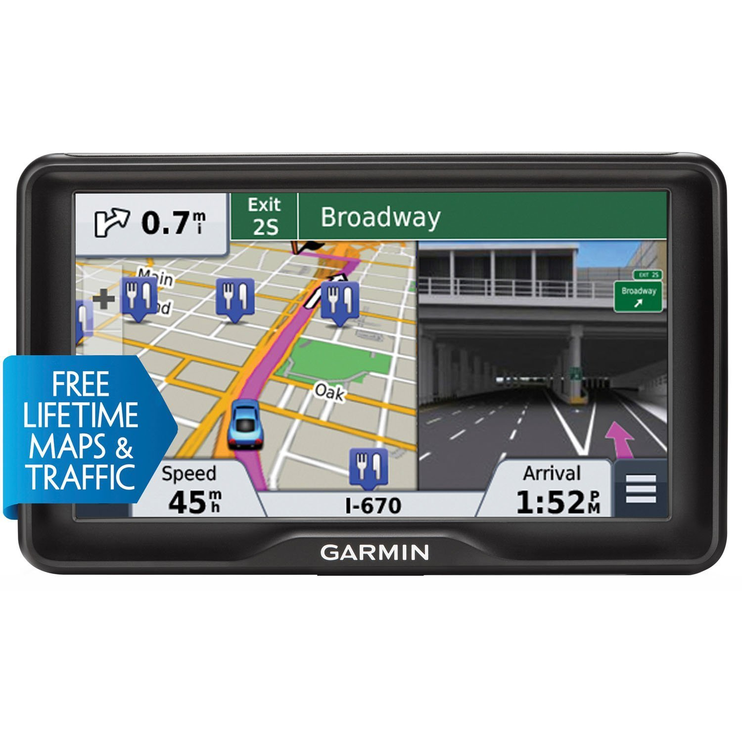 Garmin nuvi 2797LMT 7-Inch Portable Bluetooth Vehicle GPS with Lifetime Maps and Traffic (Certified Refurbished) by Garmin