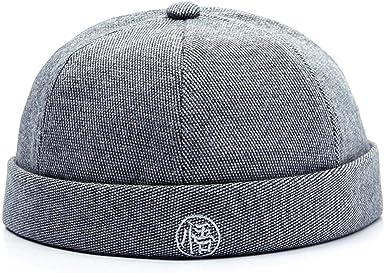 Fashion Unisex Men Women Brimless Hip Hop Cap Letter Print Pattern Beanie Hats